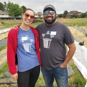 Denver host team captains at an urban farm