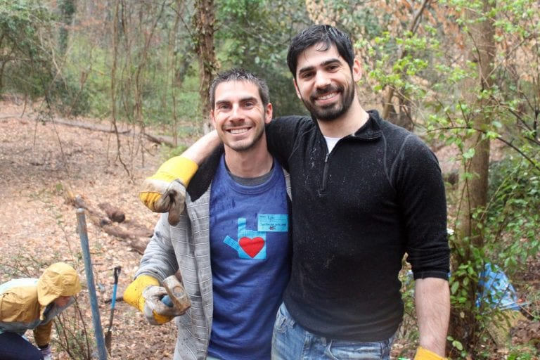 Two Atlanta volunteers working together at Love Your City 2019